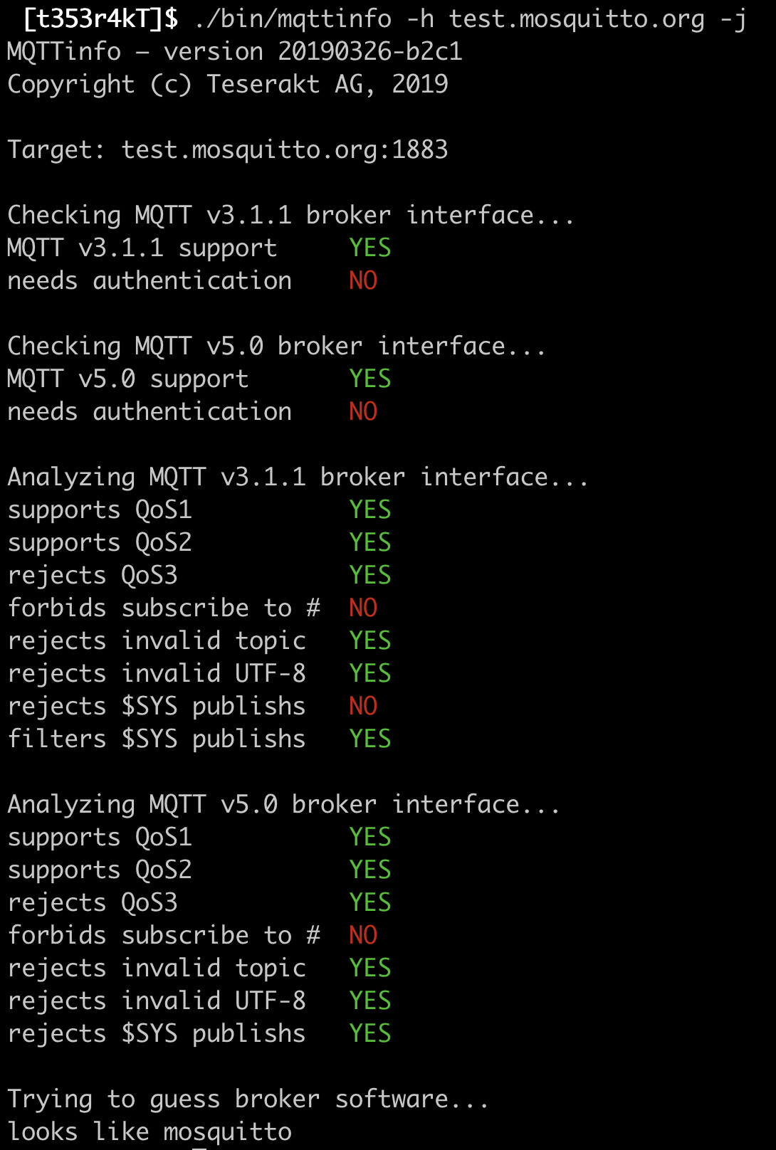 MQTT – Things' Security
